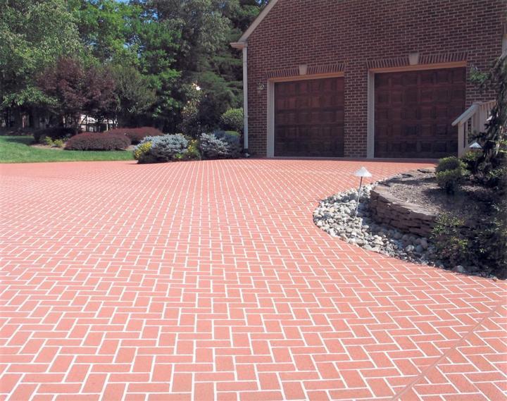 brick pattern stamped driveway Las Vegas