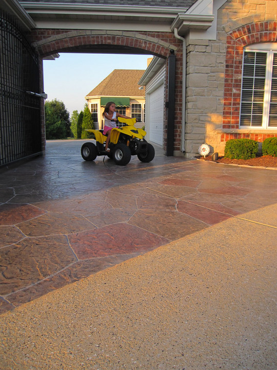 stamped concrete overlay installation Las Vegas