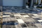 concrete driveway sunstamp Las Vegas