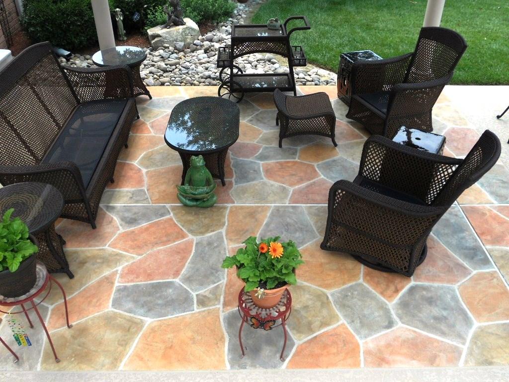 decorative stamped concrete patio