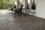stamped concrete overlay patio Las Vegas