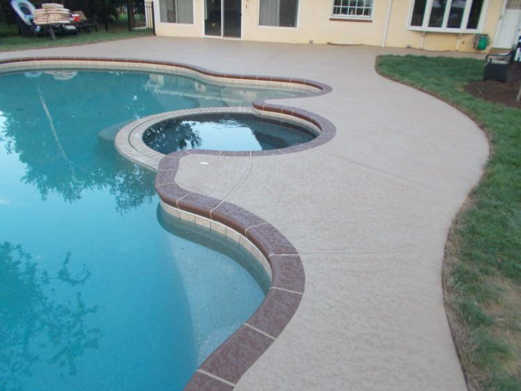 Concrete pool deck enterprise nevada 702 979 7722 for Above ground pool decks las vegas