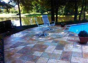 Outdoor Floor Staining