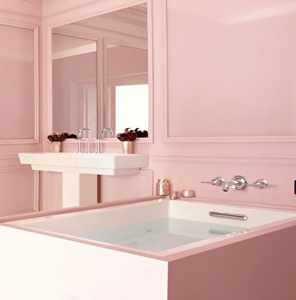 soft pink bathroom color