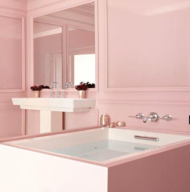 soft pink bathroom color